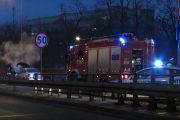 Legionowo: Pożar samochodu na wiadukcie