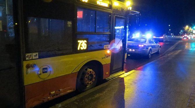 Legionowo: Zderzenie lawety z autobusem 736